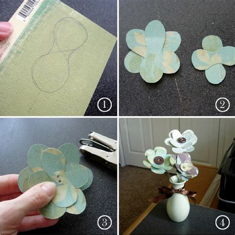How To Make Paper Flowers For Scrapbooking - vintage paper flower ideas weddings by lilly
