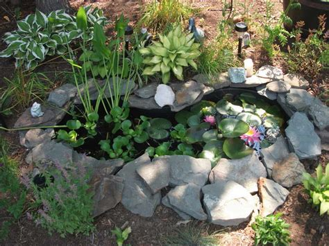 outdoor preformed pond liners with pink lotus flower