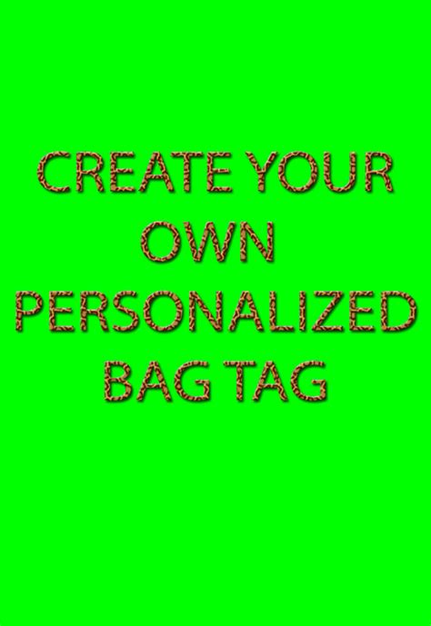 design own name tags create your own bag tag luggage tag