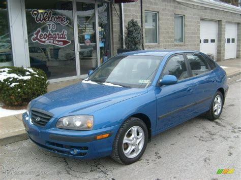 2005 Hyundai Elantra Gt by 2005 Tidal Wave Blue Hyundai Elantra Gt Hatchback