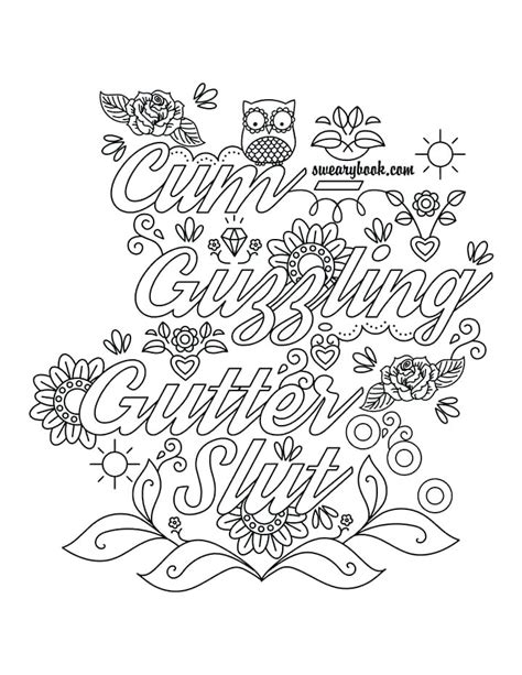 Free Printable Coloring Pages For Adults Only Swear Words