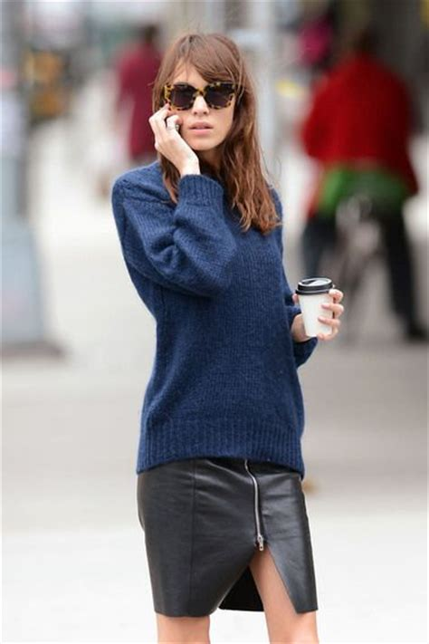 sweater leather skirt chung the fashion tag