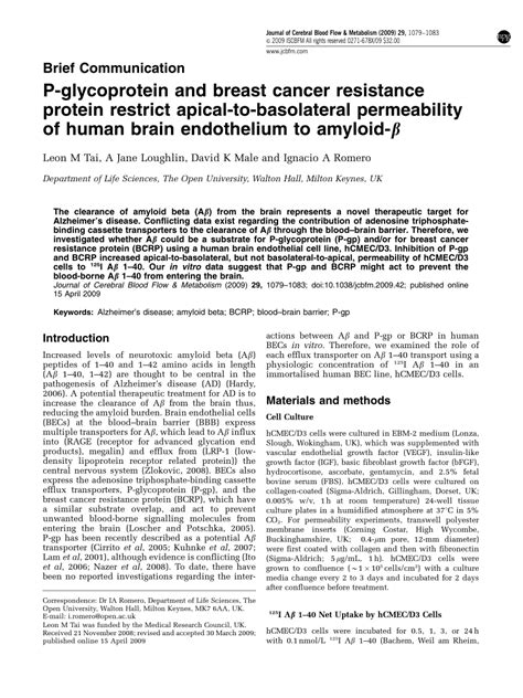p protein pdf p glycoprotein and breast cancer resistance protein