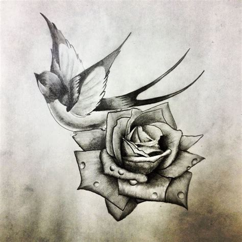 swallow and rose tattoo 25 best ideas about design on
