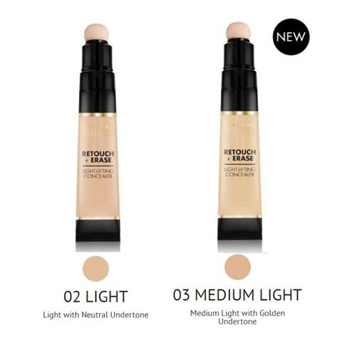 Millani Retouch Erase Light Lifting Concealer milani retouch erase light lifting concealer in one click beautyhaul
