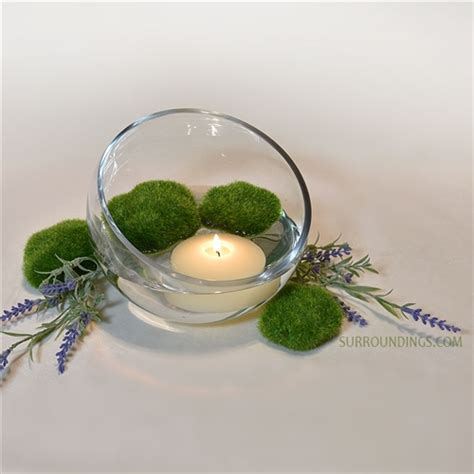 floating candle centerpiece kits lavender moss floating candle centerpiece kit