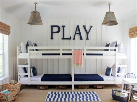 room bunk bed stylish bunk beds hgtv
