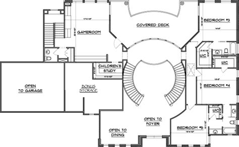 double staircase floor plans home plans dual staircases house plans 40073