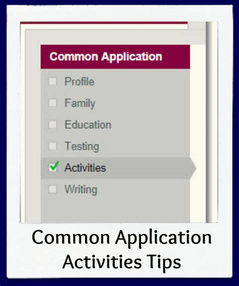 common application activities section common application activities section strategies