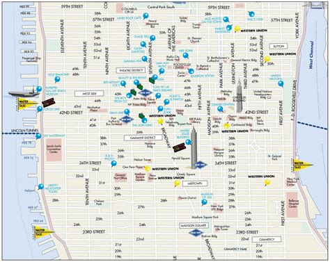 manhattan city map map of midtown manhattan world map 07