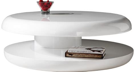 Impressionnant Table Basse Ronde Pas Chere #9: Table_basse_design_ronde_laque_blanche_plateau_tournant.jpg
