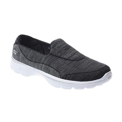 Sepatu Skechers Walk Wanita jual skechers go walk 3 sepatu slip on wanita ske14046bkw harga kualitas