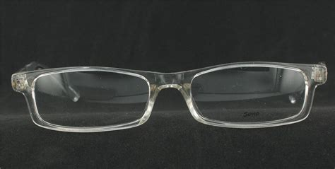 soho eyewear 56 eyeglasses clear plastic