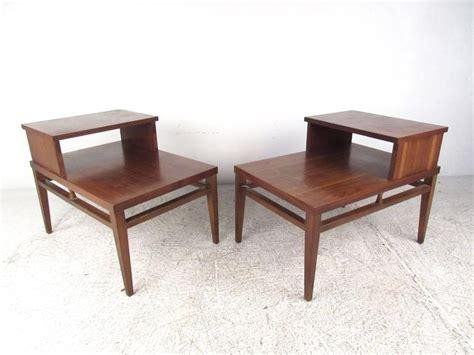 mid century accent table mid century modern two tier end tables by lane for sale at