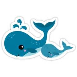 Cute mommy and baby whale sticker by from redbubble cute