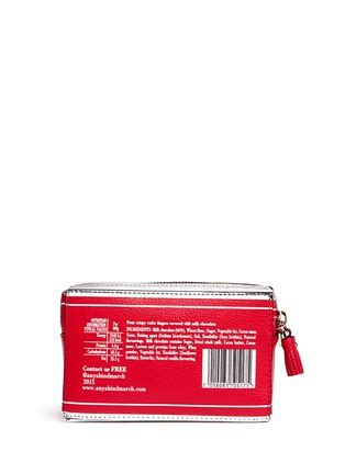 Anya Hindmarch Broken Mirror Leather Clutch by Anya Hindmarch Kit Mirror Leather Wristlet On