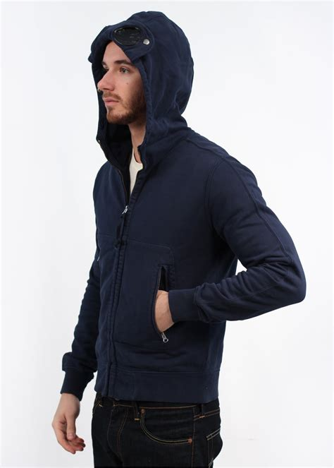 Cp Hoodie Ccc Navy cp company zip hooded top navy