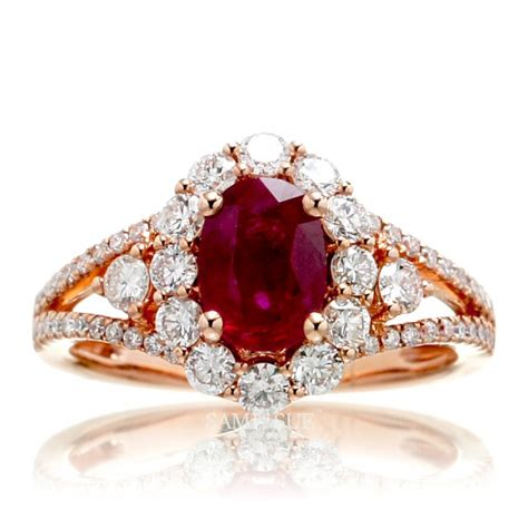 ruby engagement rings genuine ruby and diamonds