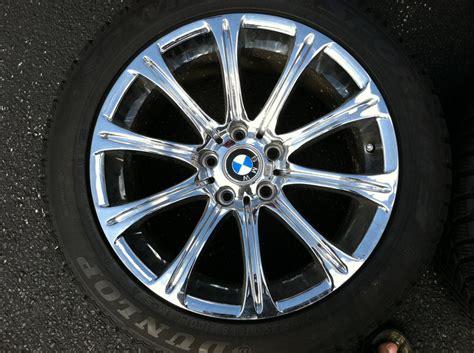 chrome bmw  style   wheel set   dunlop
