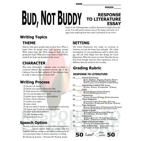 bud not buddy book report essay college essays college application essays bud not buddy