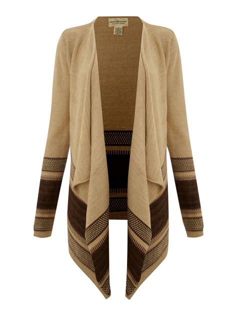 brown drape cardigan denim supply ralph lauren drape stripe bottom cardigan