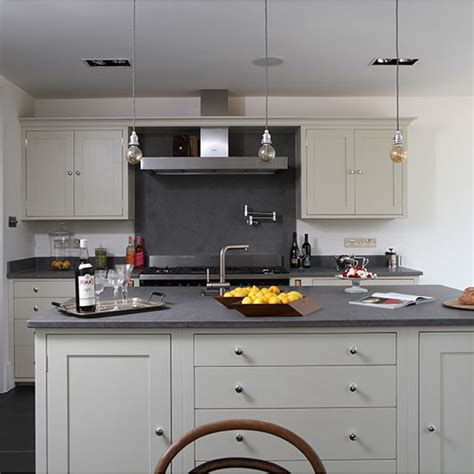 yellow and grey kitchen decorating housetohome co uk grey industrial kitchen with island decorating ideal home