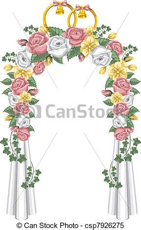 Home Decoration Flowers by Clipart Vector Of Wedding Arch Decorated With Flowers