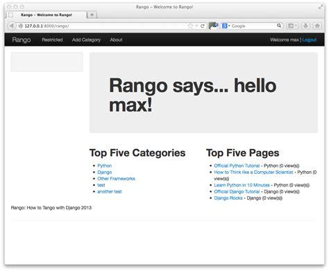 django tutorial rango bootstrap panel primary phpsourcecode net