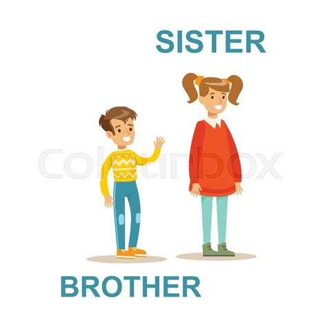 Find Home Plans by Younger Brother And Older Sister Happy Family Having Good