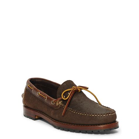 ralph leather loafers polo ralph kyse leather loafer in brown for lyst