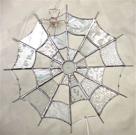 Handmade Web - handmade stained glass new spider web clear