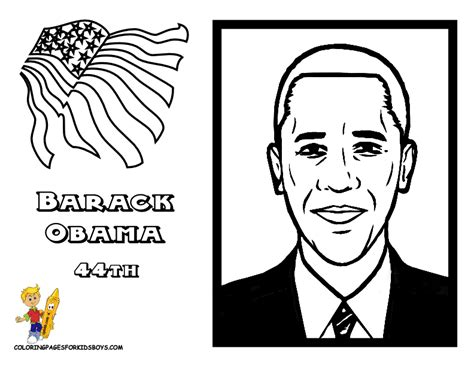 Prestigious Presidents Printables American Presidents Obama Coloring Pages