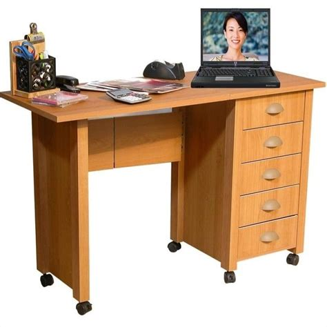 Mobile Computer Desks Venture Horizon Mobile Wood Computer Desk In Oak 1017 33oa