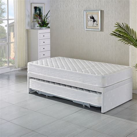 king size trundle bed king single white bed frame w trundle 2 mattresses buy