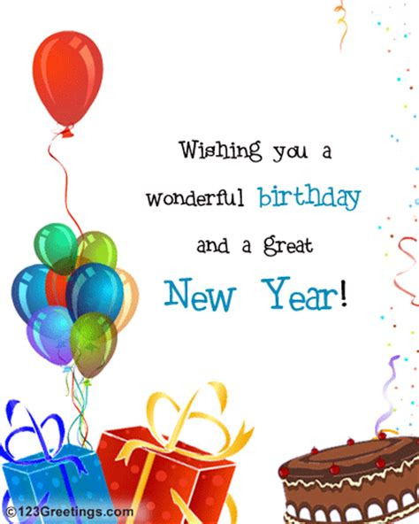 new year birthday new year birthday wish free happy new year ecards
