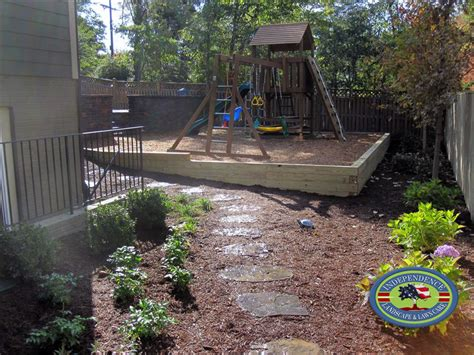 Using Landscape Timbers For Retaining Wall Retaining Walls Design Galleries Independence Landscape
