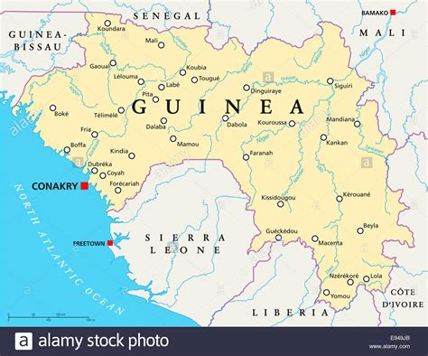 guinea bissau political map guinea political map with capital conakry national