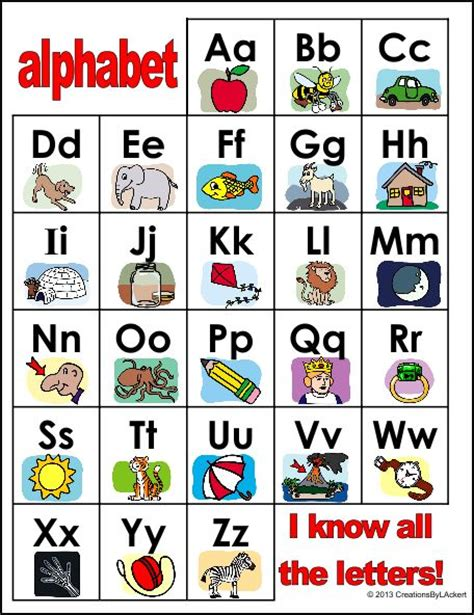 printable kindergarten alphabet chart 8 best images of abc s alphabet chart kindergarten