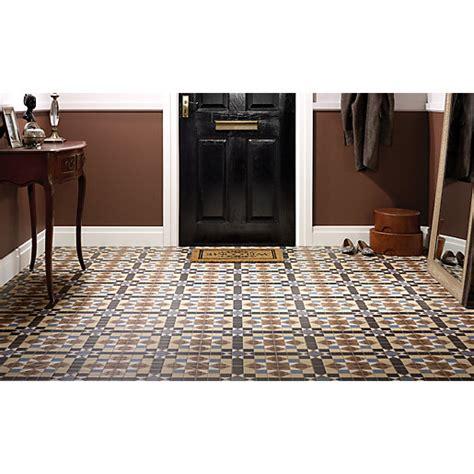 wickes bathroom border tiles wickes dorset marron patterned ceramic tile 316 x 316mm