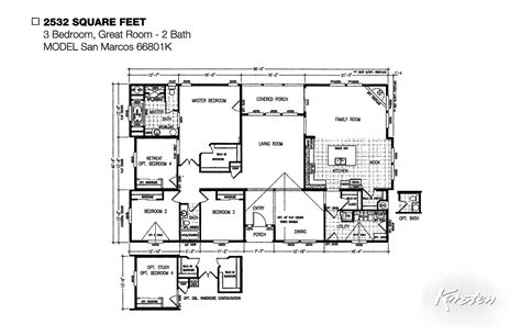 wide floor plans avalon series floorplans wide homes karsten el dorado