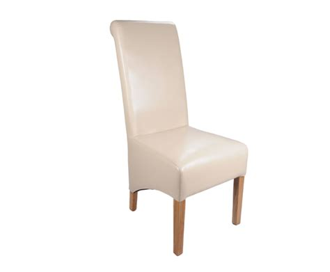 Scroll Back Leather Dining Chairs Ivory Leather High Scroll Back Dining Chair Optional Legs