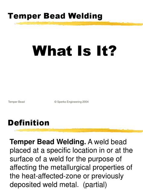 temper bead welding the alternative to pwht temper bead welding by walter j
