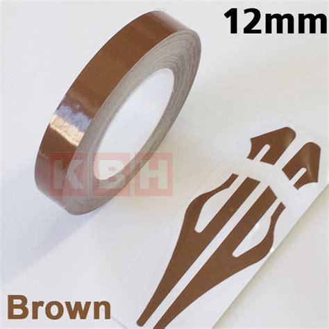 Vinyl Lantai 12mm Roll 081296253328 12mm x 9 8m pinstripe solid pin stripe decal vinyl sticker car 1 2 quot brown ebay