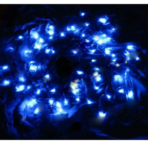 solar string lights 12m 100 led blue light solar string l festival deco tmart