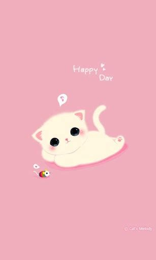 download theme cute for android free download cuki theme cute cat wallpaper for android appszoom
