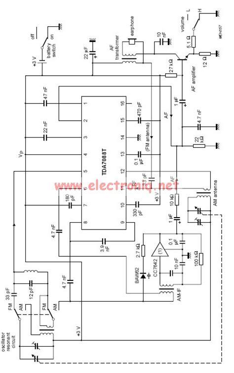 fm radio integrated circuit tda7088t fm radio receiver circuit