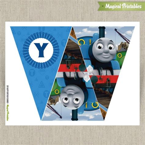 thomas and friends printable birthday banner thomas the train happy birthday banner set 2 instant