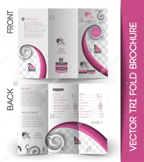 20 salon brochures vector eps psd