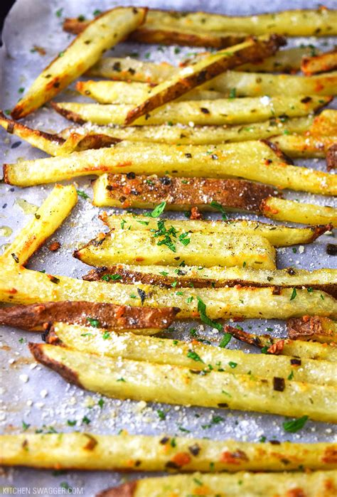 baked parmesan truffle fries recipe kitchen swagger
