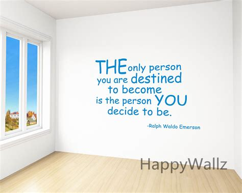 motivational quotes wall stickers the person you decide to be motivational quote wall sticker inspirational quote wall decal diy